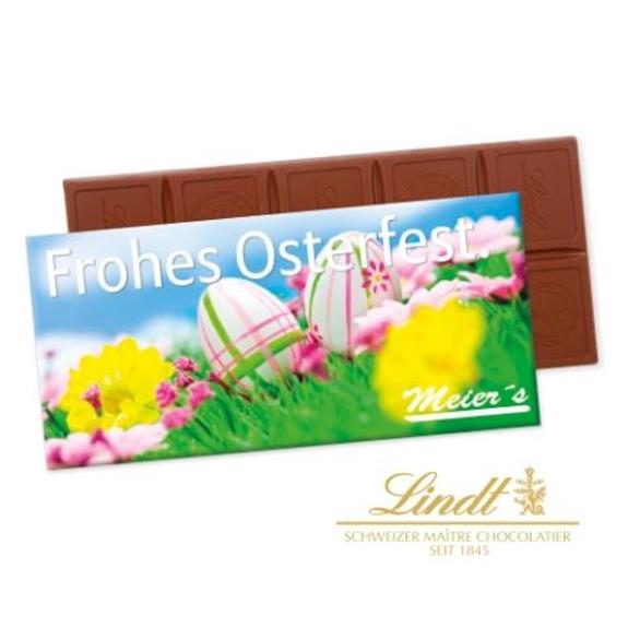 Die Schoko Tafel Lindt in Faltschachtel 100g ist individuell bedruckt mit Logo auf der Verpackung. Die Lindt Tafel gibt es in der Version Excellence oder Premium.