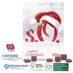 Adventskalender mit Schokolade mit Logo bedruckt als Werbegeschenk