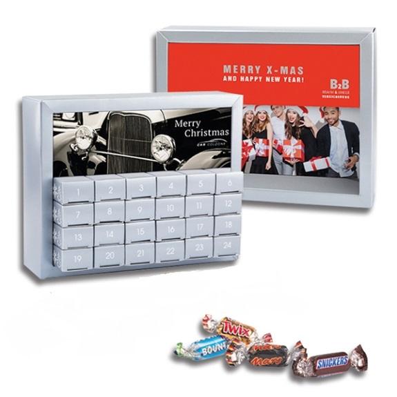 Der Adventskalender mit Mars Miniatures Mix wird individuell bedruckt auf allen Flächen.