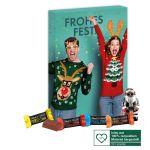 Adventskalender mit Lindt Hello Mini Sticks und Hello Santa individuell bedruckt als Werbeartikel.