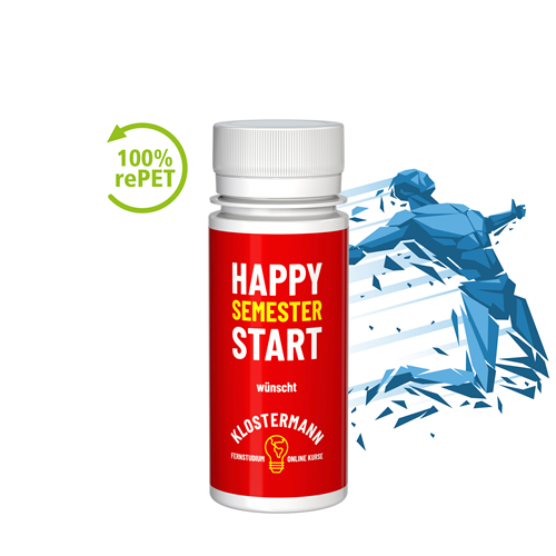 Energie Shot mit Logo bedruckt als Werbeartikel.