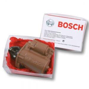 Individuelle Schokolade in Sonderform in 2D oder 3D als Spezialanfertigung und Sonderform.