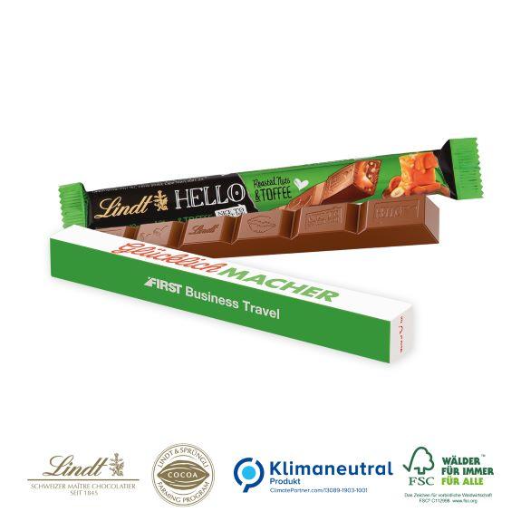 Lindt Hello Stick 39 g individuell bedruckt als Werbeartikel.