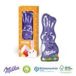 Milka Osterhase 45g in der Werbebox mit Logo bedruckt als Give away.