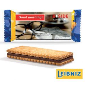 Pick Up Choco Werbeschuber von Leibniz mit individuellem Druck.