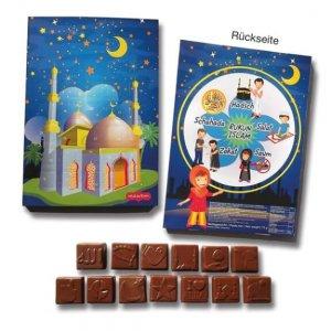 Ramadan Kalender individuell bedruckt und individuelle Schokofüllung.