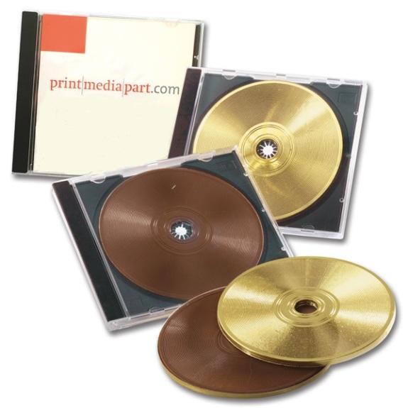Die Schoko CD ist verpackt in original CD Hülle. Der Papiereinleger kann individuell bedruckt werden auf beiden Seiten.