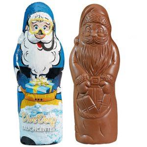 Der Schoko Weihnachtsmann ist aus deutscher Markenschokolade in 40g. Die Folie von dem Weihnachtsmann kann individuell nach Wunsch bedruckt werden.