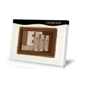 SchokoTäfelchen mit Zuckerdruck 100g mit individuellem Druck direkt auf der Schokolade. Es gibt Vollmilch, Zartbitter oder Weiße Schokolade. Die Schokolade wird bedruckt mit weißem oder braunem Zuckerdruck.