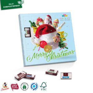 Tisch Adventskalender quadratisch mit Sarotti Schokolade individuell bedruckt.