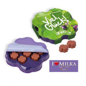 Milka Kleines Dankeschön mit individuellem Werbedruck auf der Verpackung.