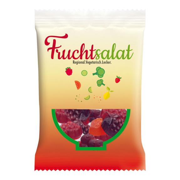 Haribo Fruitmania Berry Werbetüte individuell bedruckt mit Logo als Werbeartikel.