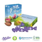 Milka Ostereier in Präsentverpackung als Werbegeschenk.
