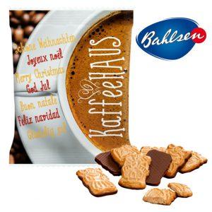 mini spekulatius der marke bahlsen mit vollmilchschokolade im individuell bedruckbaren tütchen