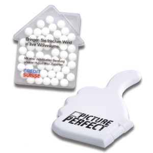 Die Cool Card Haus und Daumen hoch ist eine Mintcard die individuell bedruckt werden kann. Gefüllt ist die Cool Card mit ca. 50 zuckerfreien Minties.