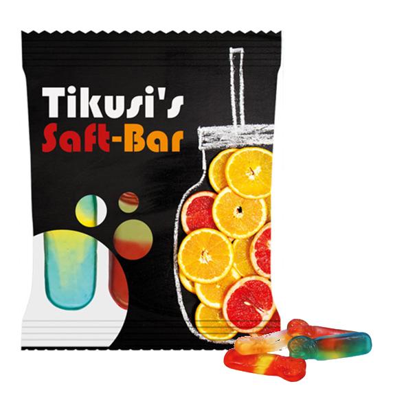 Kleine Fruchtgummi Cocktails der Marke Haribo im Werbetütchen