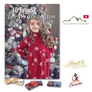 Countdown Adventskalender mit variablicher Türchenanzahl nach Wunsch. Gefüllt ist der Kalender mit Lindt Schokolade oder Sarotti Schokolade. Jeder Kalender kann individuell bedruckt werden.