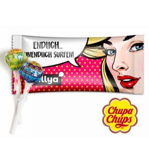 mini chupa chups lolly im individuell bedruckten tütchen