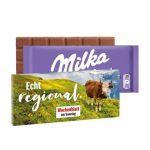 Milka Schokotafel in Präsentbox mit individuellem Druck nach Wunsch als Werbeartikel.