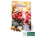 Ferrero Küsschen Adventskalender individuell gestaltet nach Wunsch als Werbegeschenk.