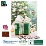 Adventskalender mit Sarotti Fairtrade Schokolade individuell bedruckt mit Logo als Werbegeschenk.