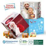 Adventskalender Würfel mit Ferrero Küsschen und individuell bedruckt als Werbemittel.