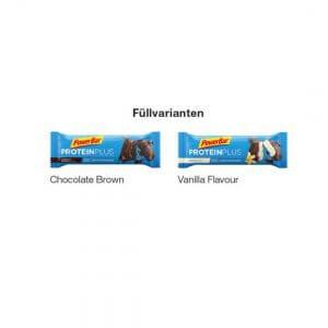 PowerBar Protein Plus Riegel mit Werbebanderole mit Logo oder Werbebotschaft bedruckt.