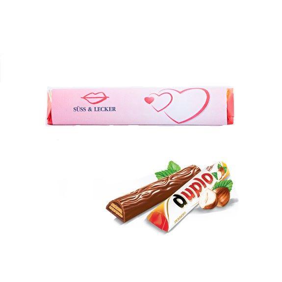 Duplo Riegel personaliesieren mit Logo und die Duplo Schokolade wird zum Werbemittel.