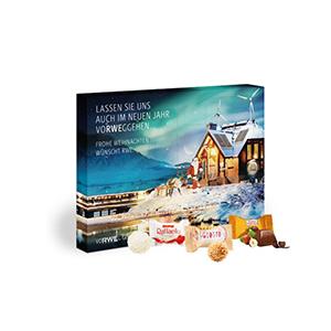 Individuell bedruckter Adventskalender als Werbemittel