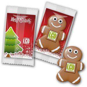 werbegeschenke weihnachten mit logo und werbekarte schokoladenmann