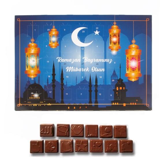 Ramadan Kalender mit Halal Schokolade für Kinder und Familie.